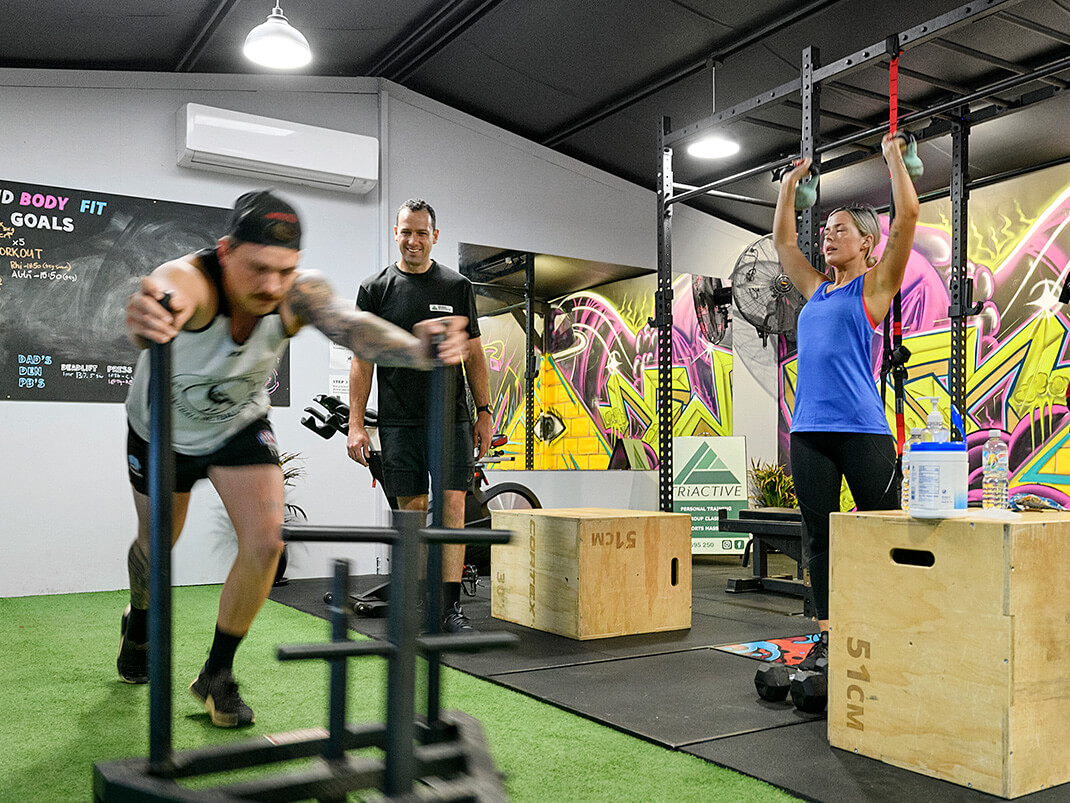 Group training at TriActive Euroa gym