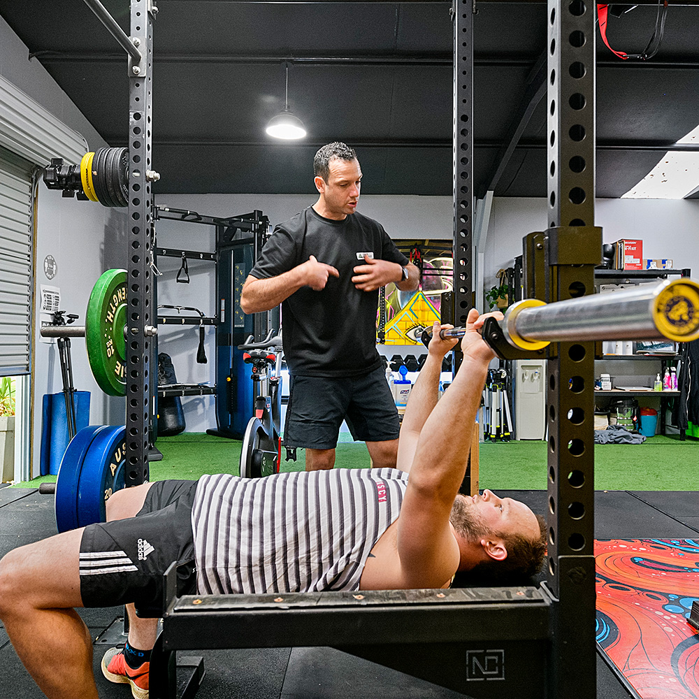 Personal training session at the TriActive Euroa gym
