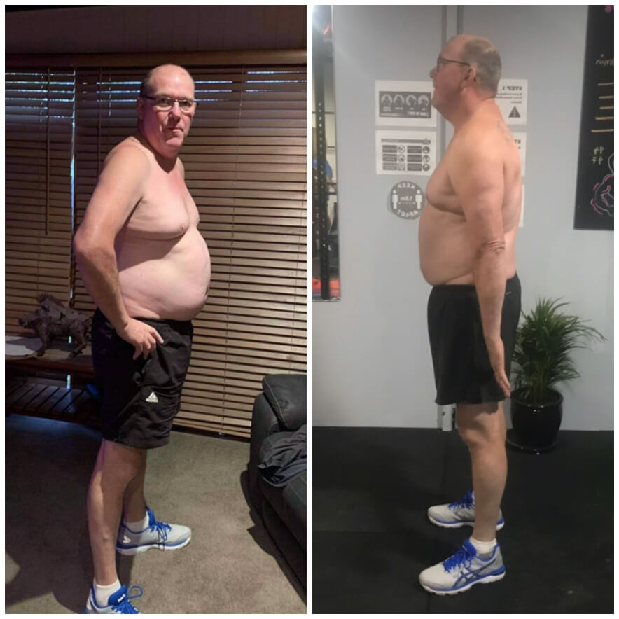 Shane before and after photos, fitness results
