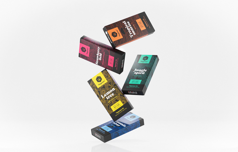 Happease vape kit packaging design