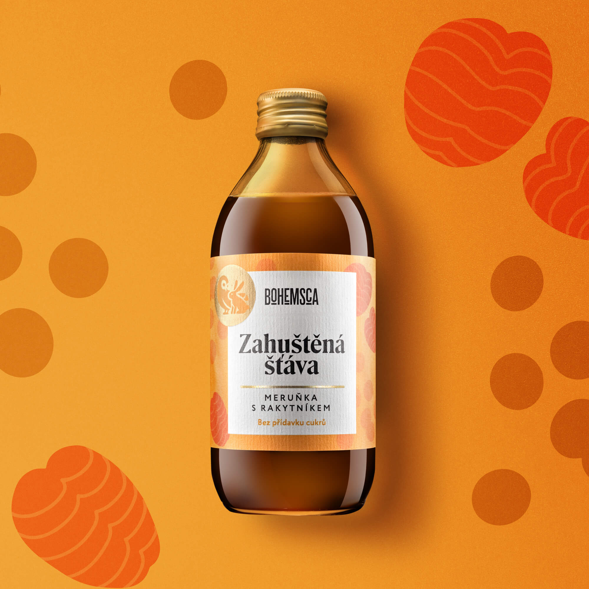 Bohemsca syrup packaging design