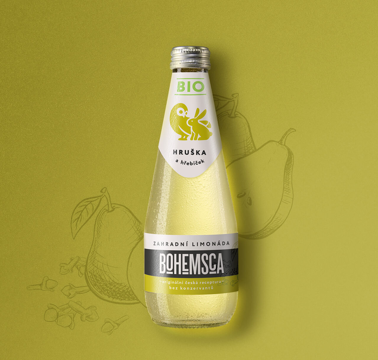 Bohemsca lemonade packaging design