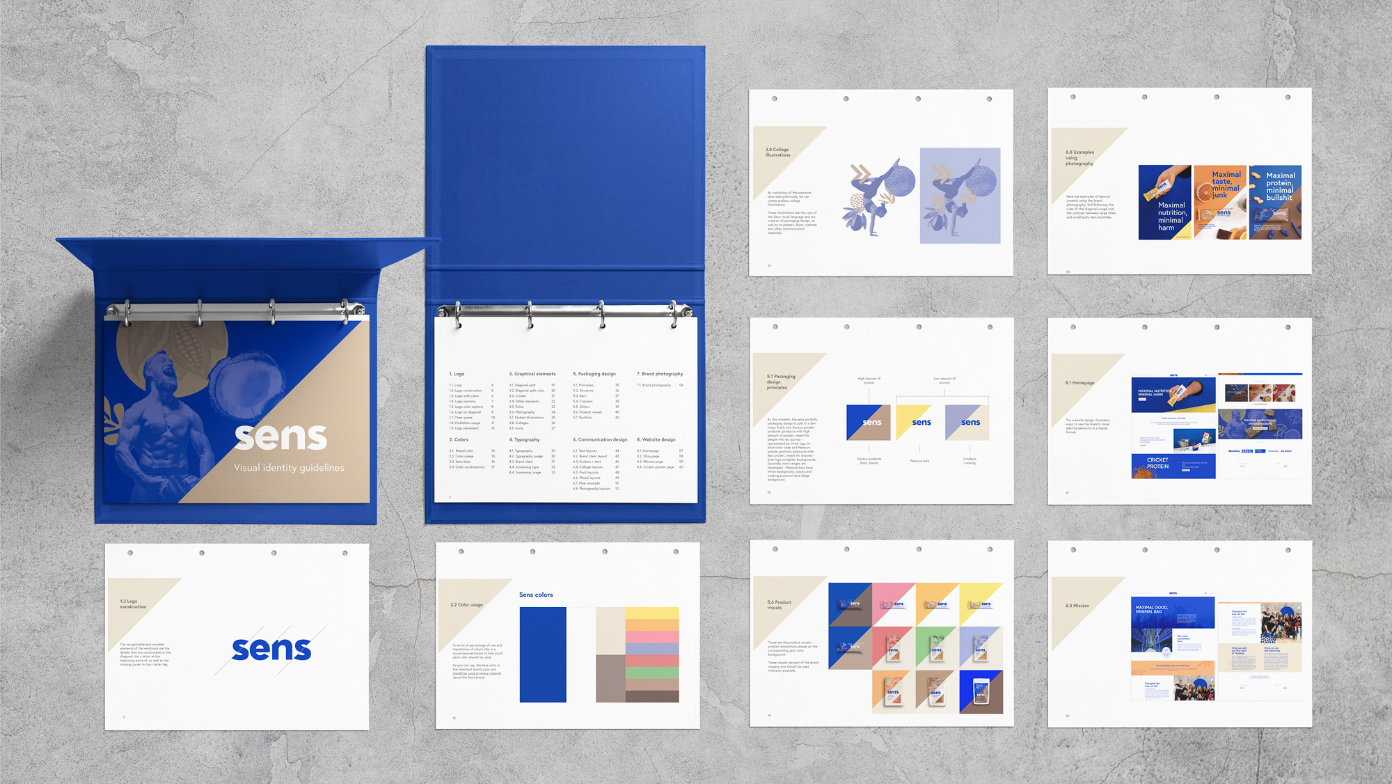 Sens redesign, branding, visual identity, guidelines