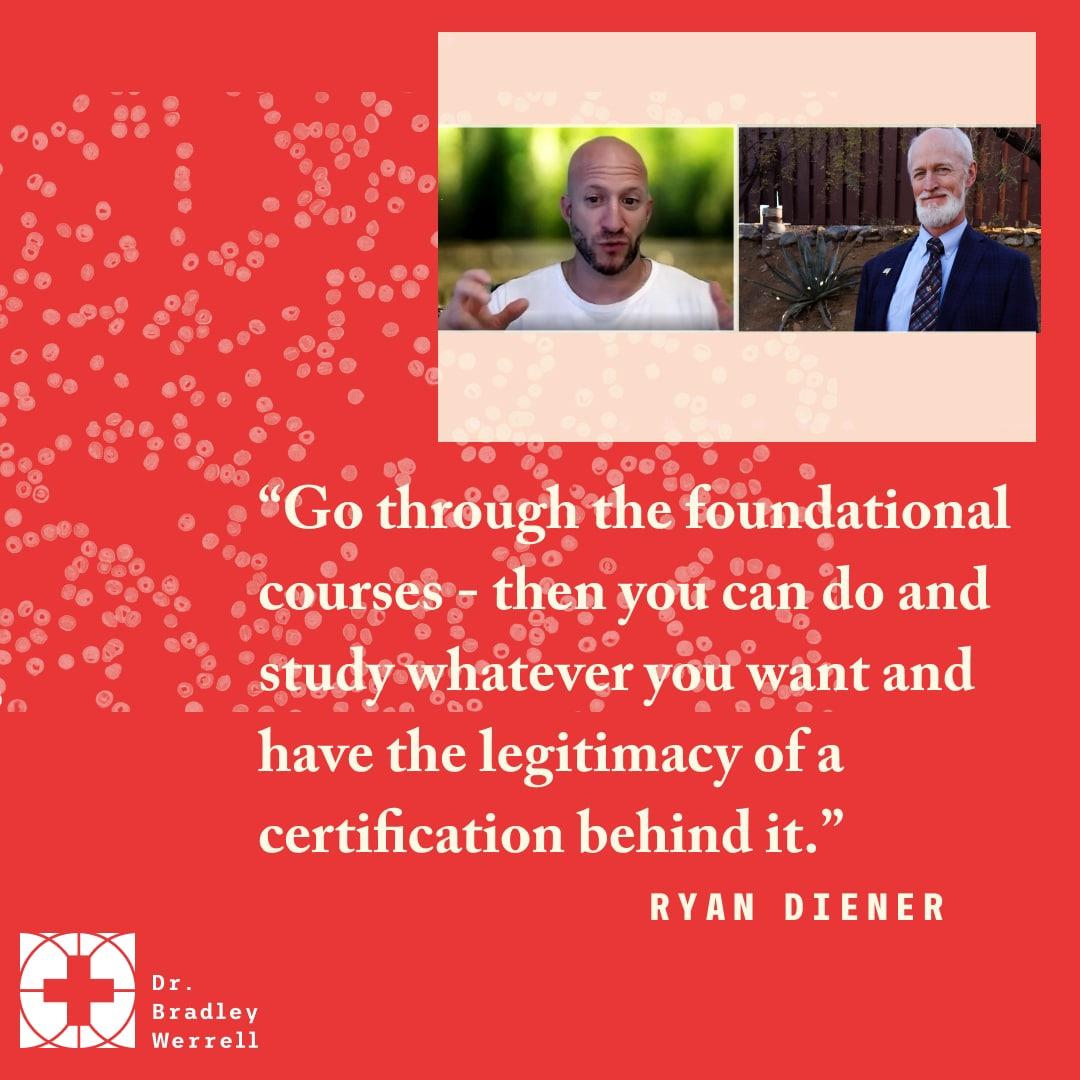 Ryan Deiner on the Best Medicine Podcast with Dr Bradley Werrell