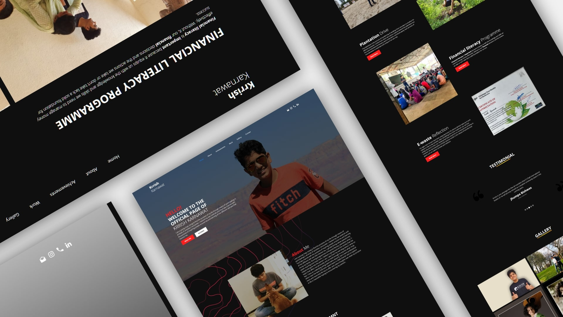 krrish karnawat Student Portfolio Website design