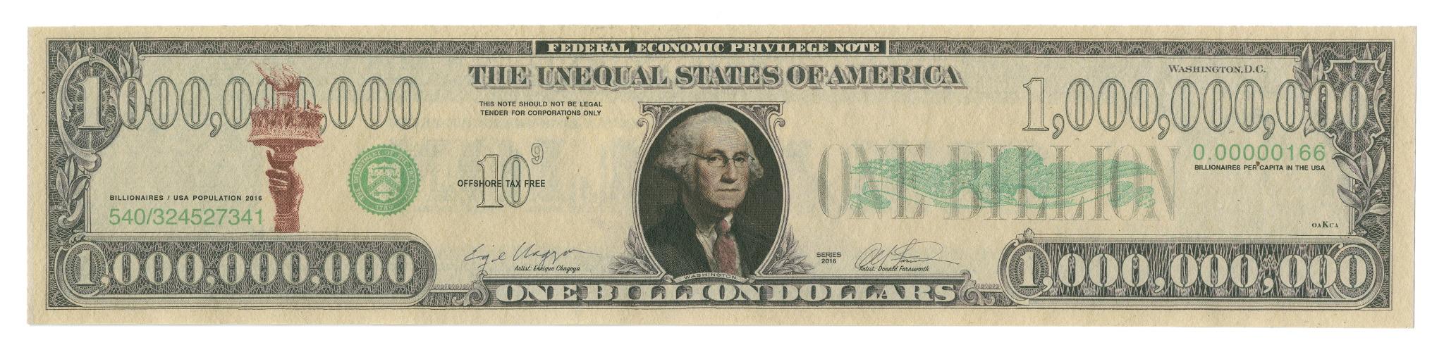 Enrique Chagoya One Billion Dollar Bill