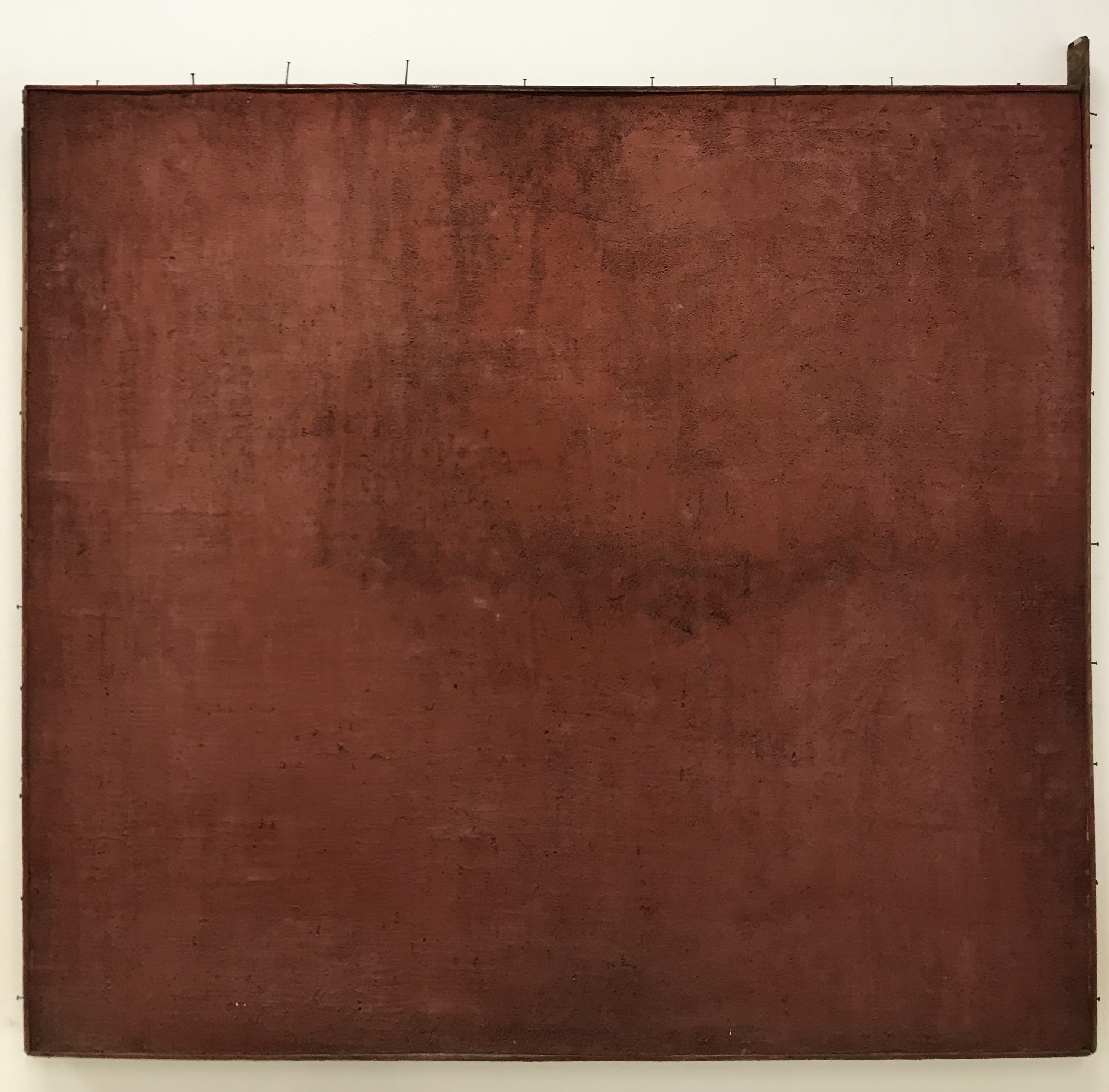 David Ireland Untitled (Cement Painting - Red