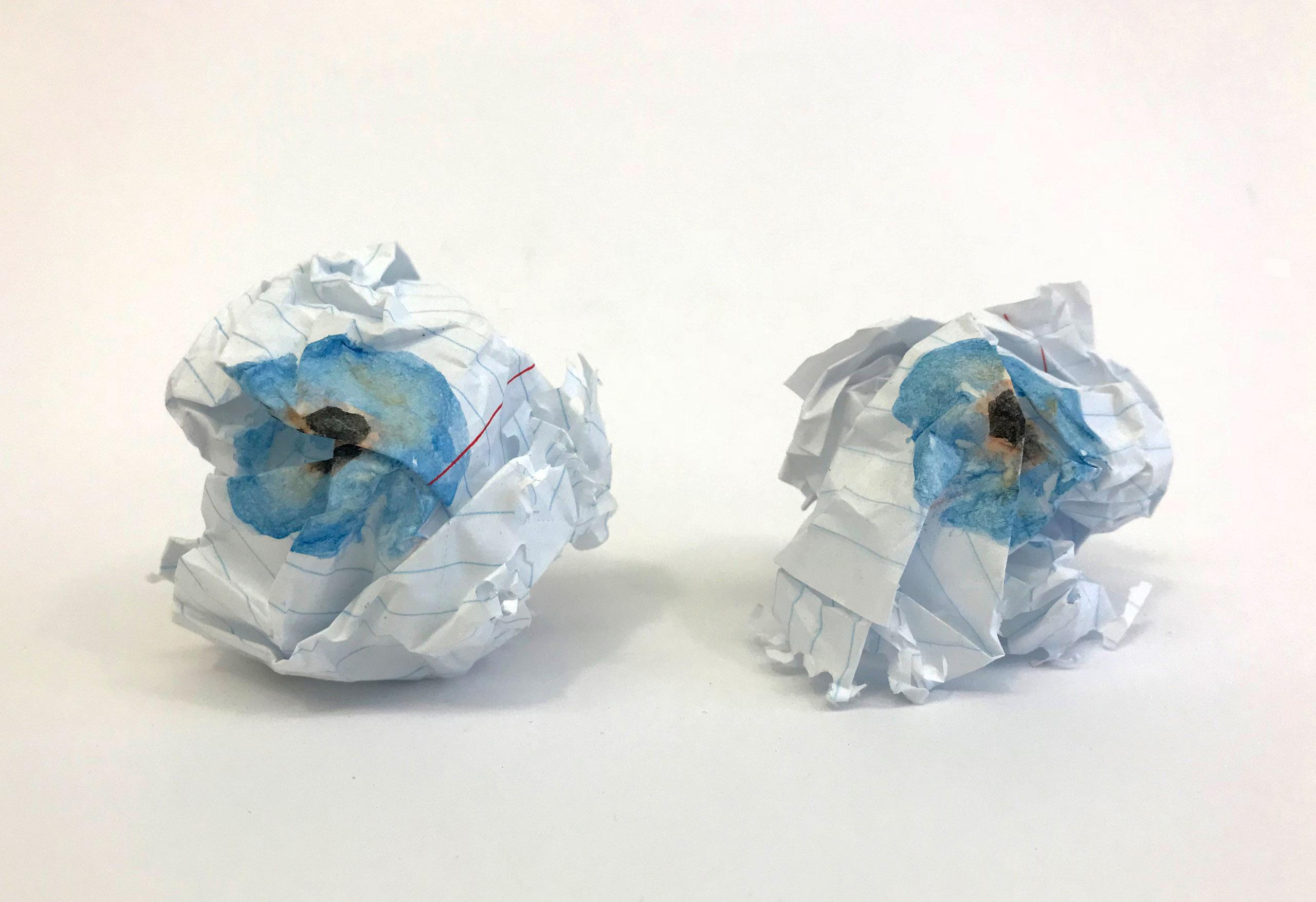 Benji Whalen Untitled (paper eyeballs)