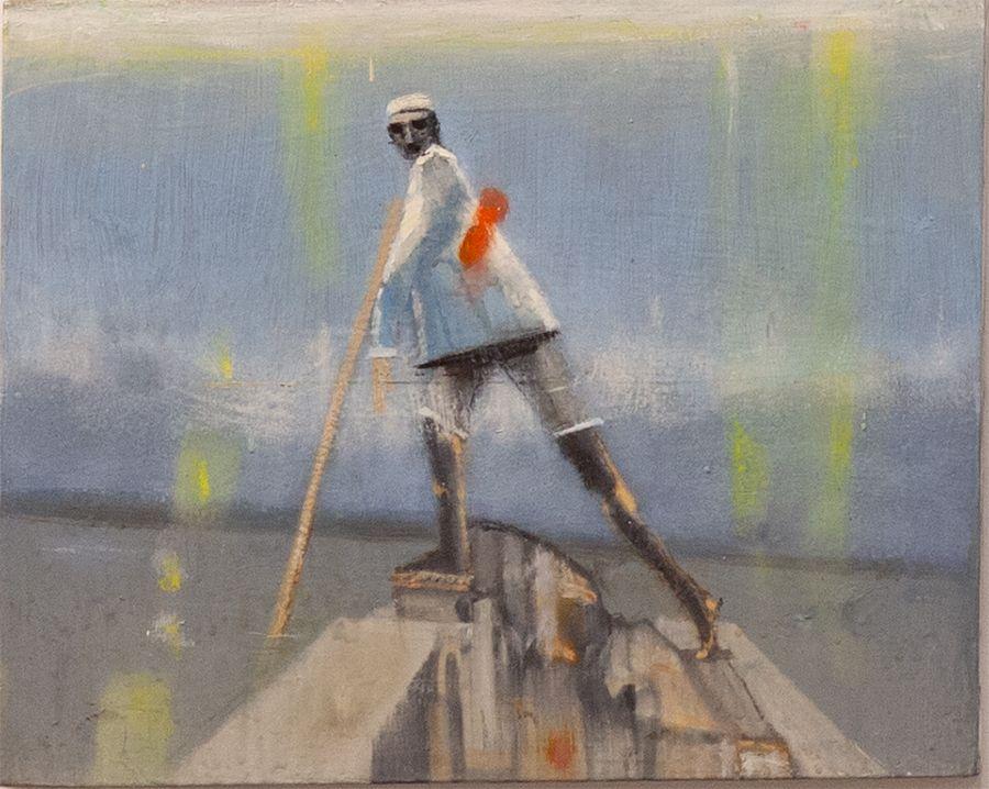Yee Jan Bao Untitled (Figure on Boat)