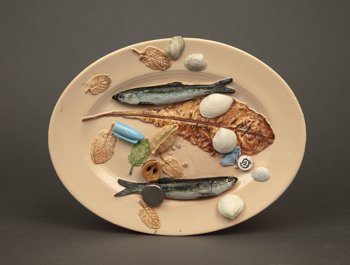 Richard Shaw Two Fishes and Paint Tube Cap
