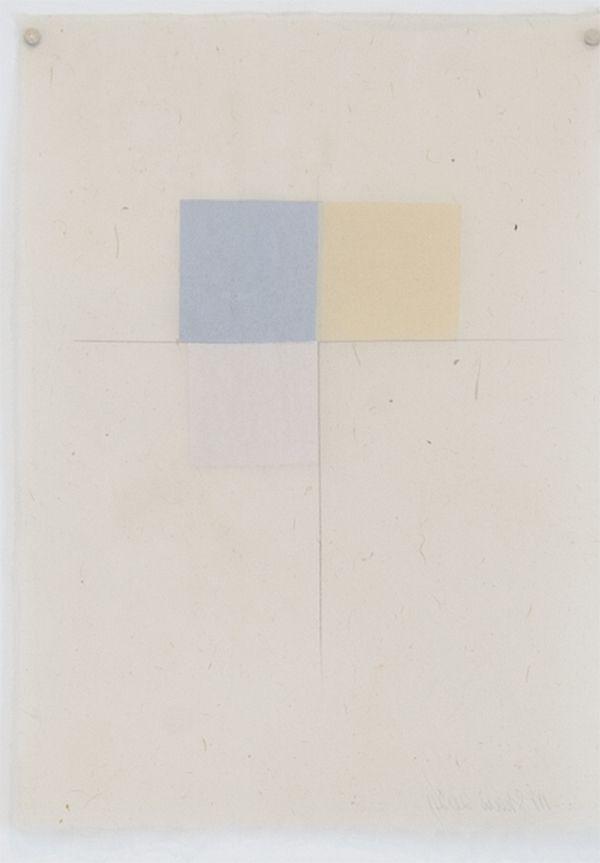 Martha Shaw Untitled (Gray, Yellow & White)