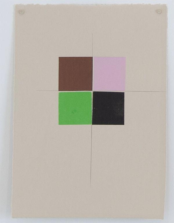 Martha Shaw Untitled (Brown, Pink, Green & Black)