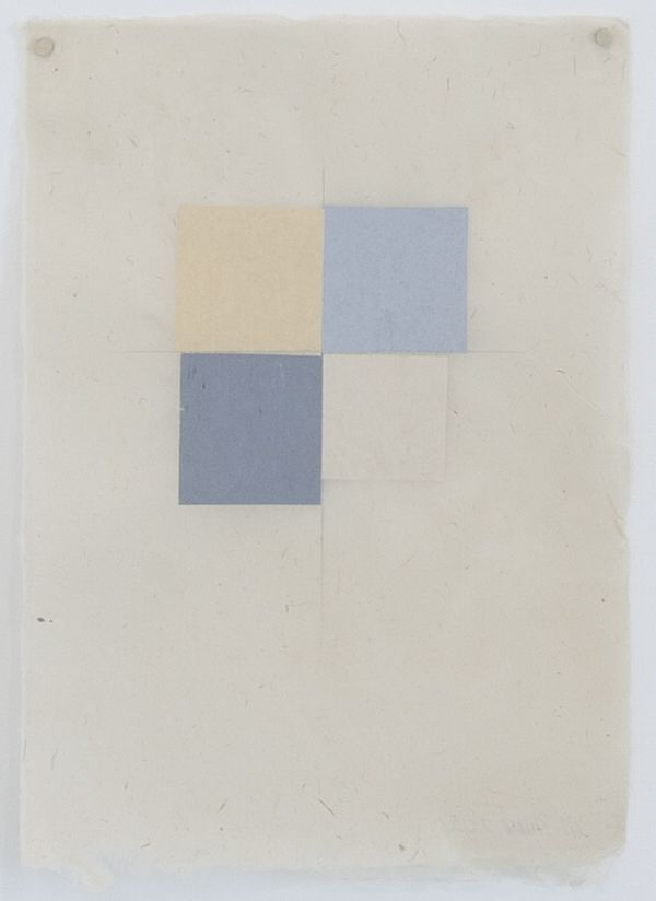 Martha Shaw Untitled (Yellow, Two Shades of Gray and Buff)