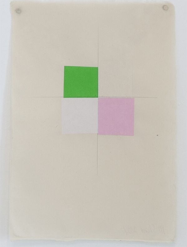 Martha Shaw Untitled (Green, Buff, White & Pink)