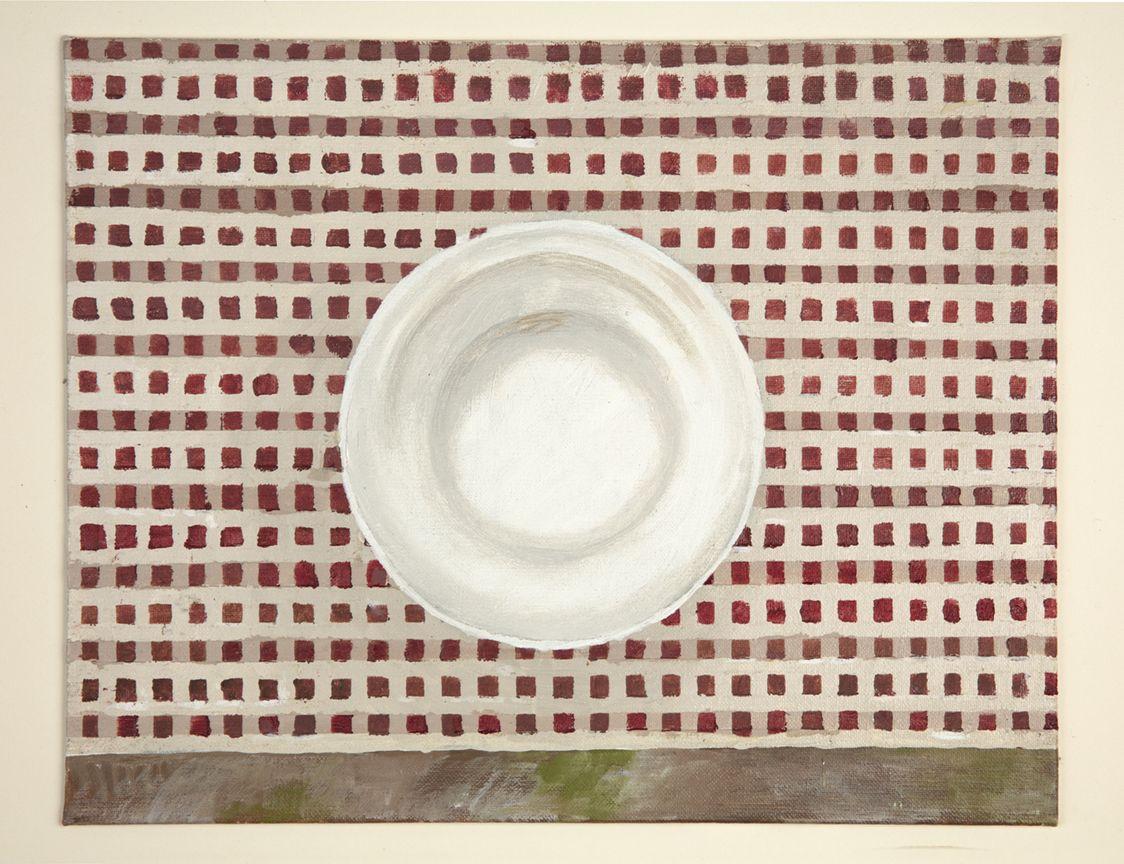 Martha Shaw Untitled (Plate on Red Checks)