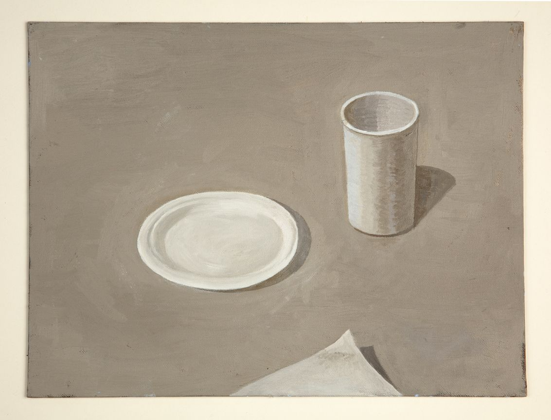 Martha Shaw Untitled (Plate, Cup, Paper)