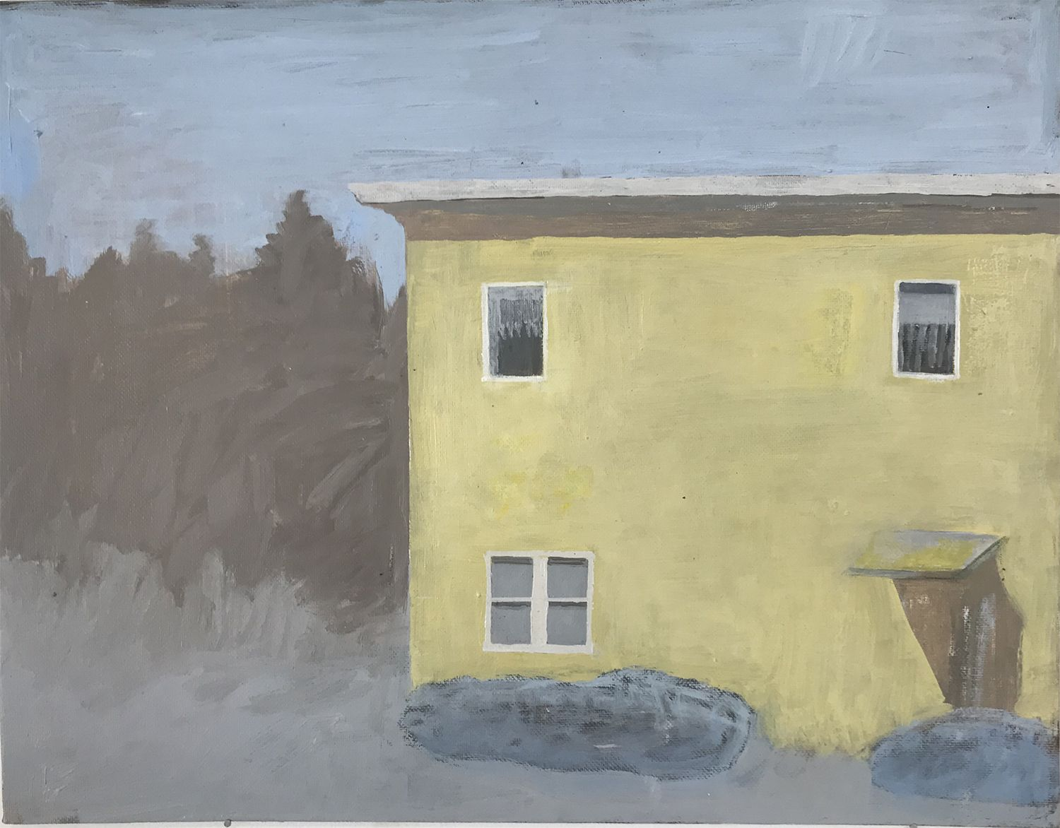 Martha Shaw Untitled (Yellow House in Landscape)