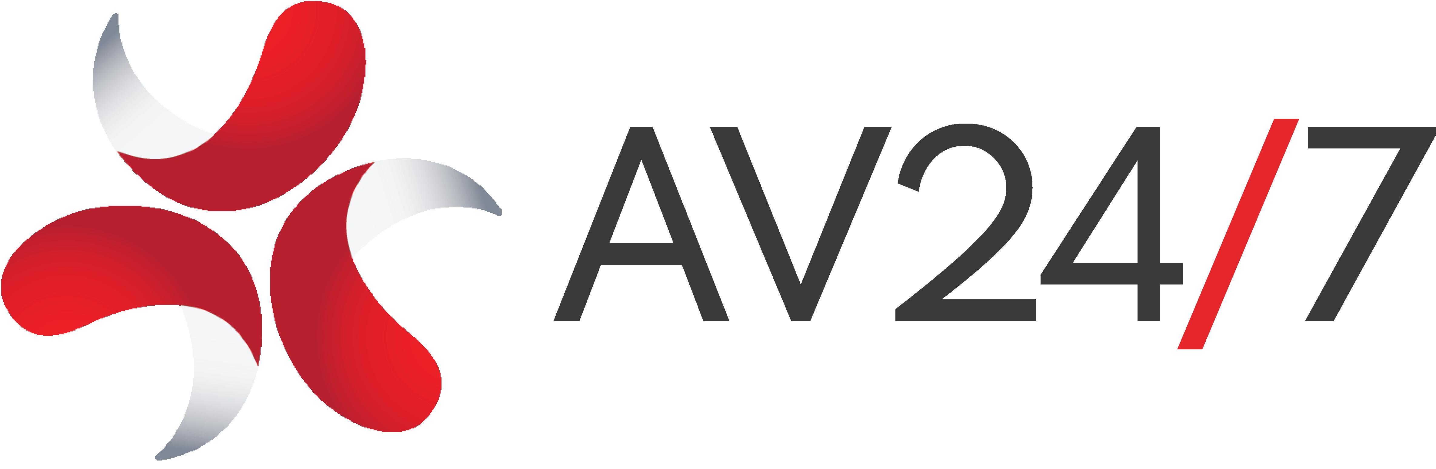 AV 24/7 Logo Black