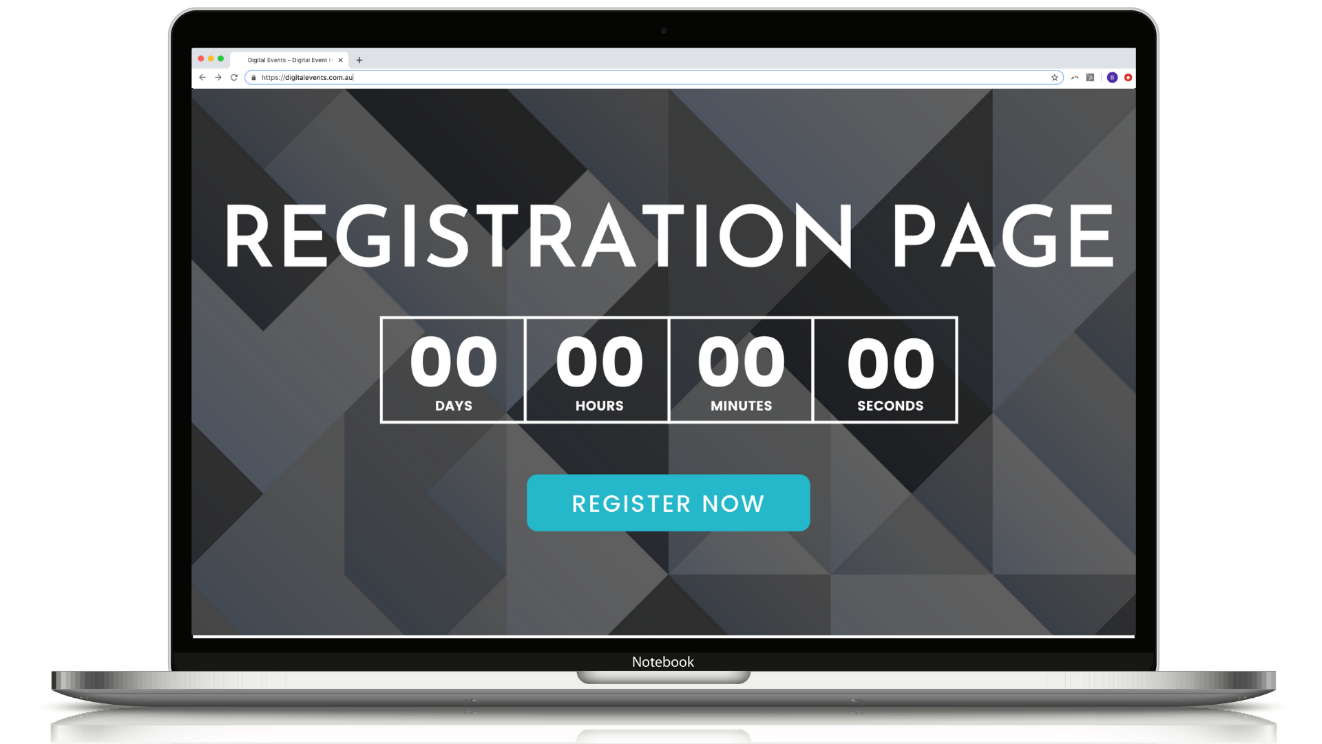 Digital Events Registration Page