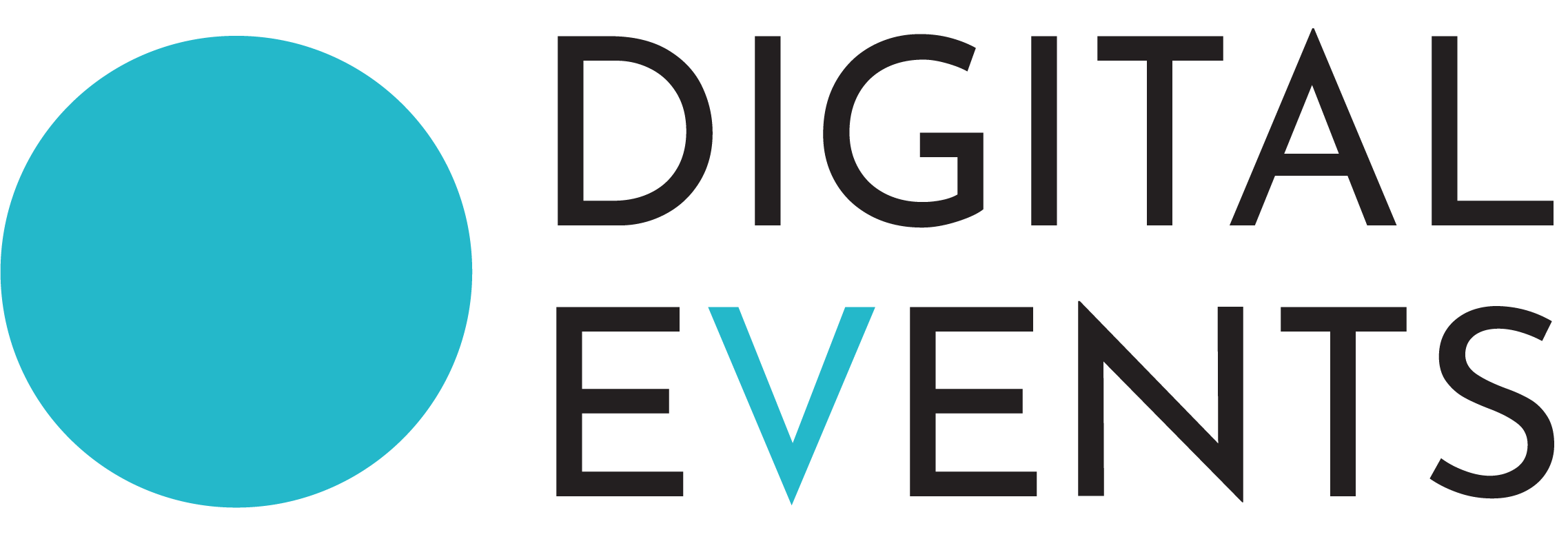 Digital Events Logo Black