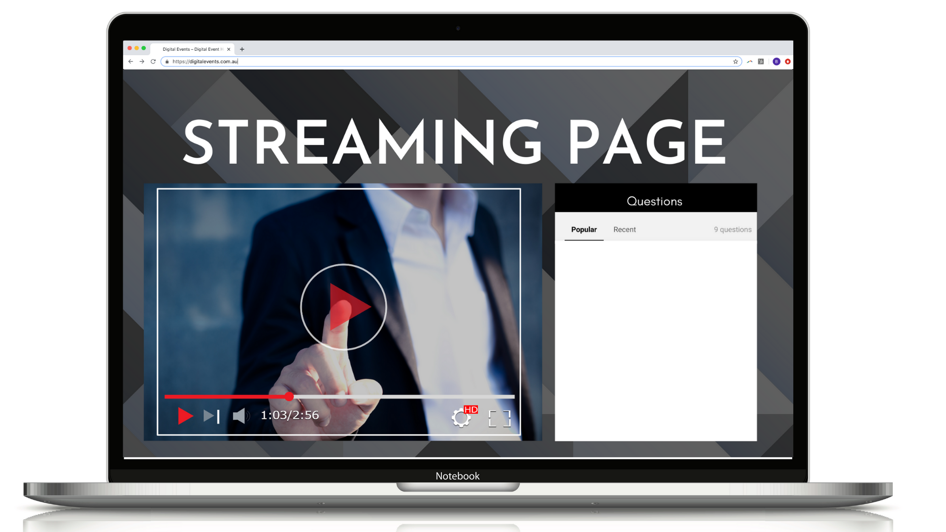 Digital Events Microsite Streaming Page