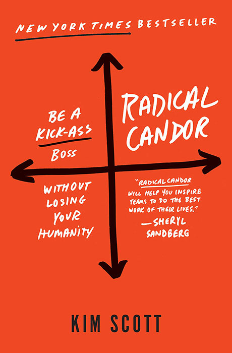 Radical Candor: Be a kickass boss without losing your humanity. Written by Kim Scott.