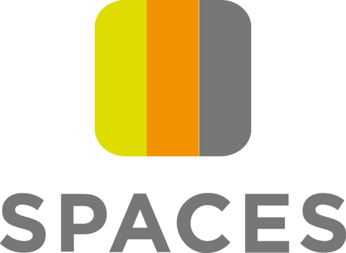 Spaces logo with text
