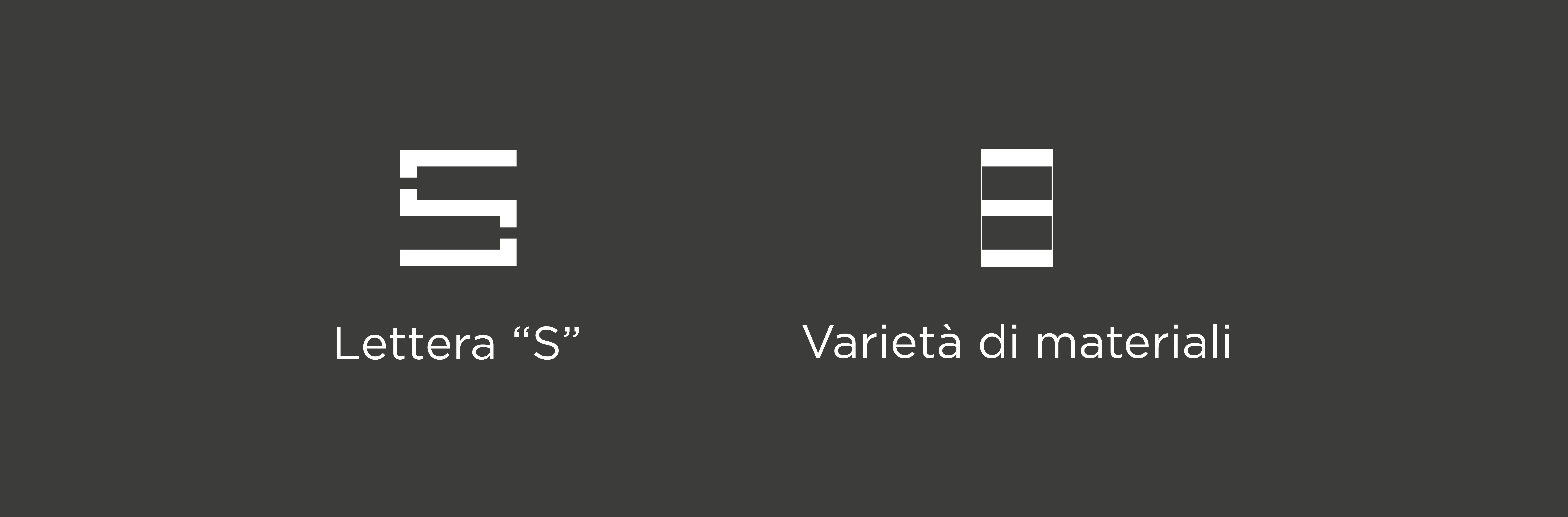 concept del logo savoia formato da due simboli bianchi con didascalia bianca su sfondo grigio scuro