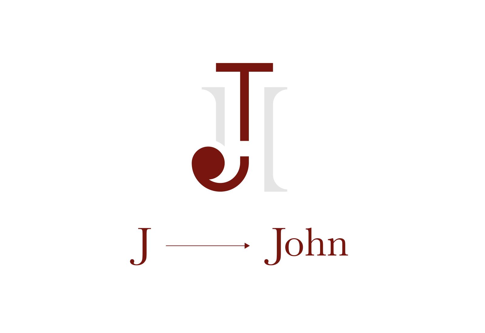 J di John evidenziata sul logo di john travor hotel bordeaux su sfondo bianco