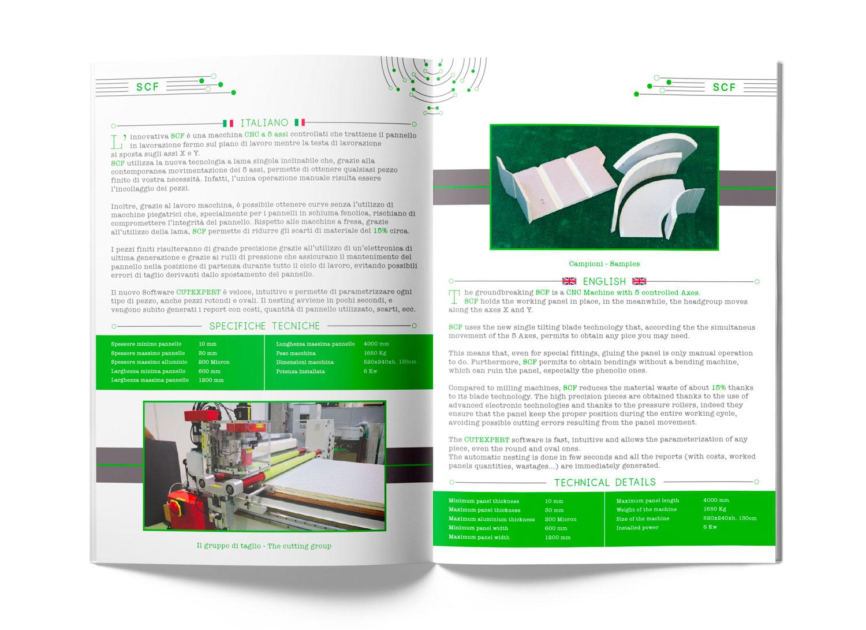 catalogo CGM Progetti aperto con foto e descrizioni del prodotto