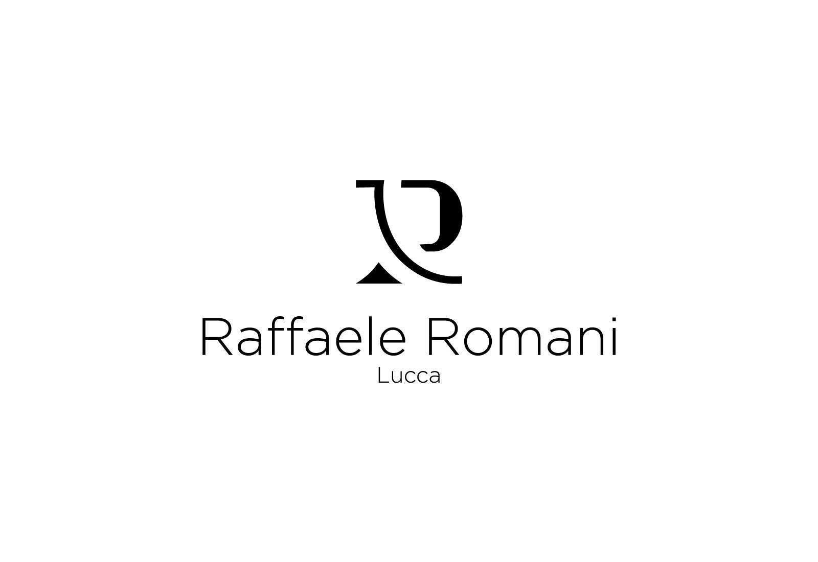 Logo di Raffaele Romani nero su sfondo bianco