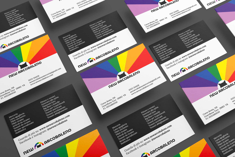 Biglietti da visita di New Arcobaleno con la nuova Brand Identity