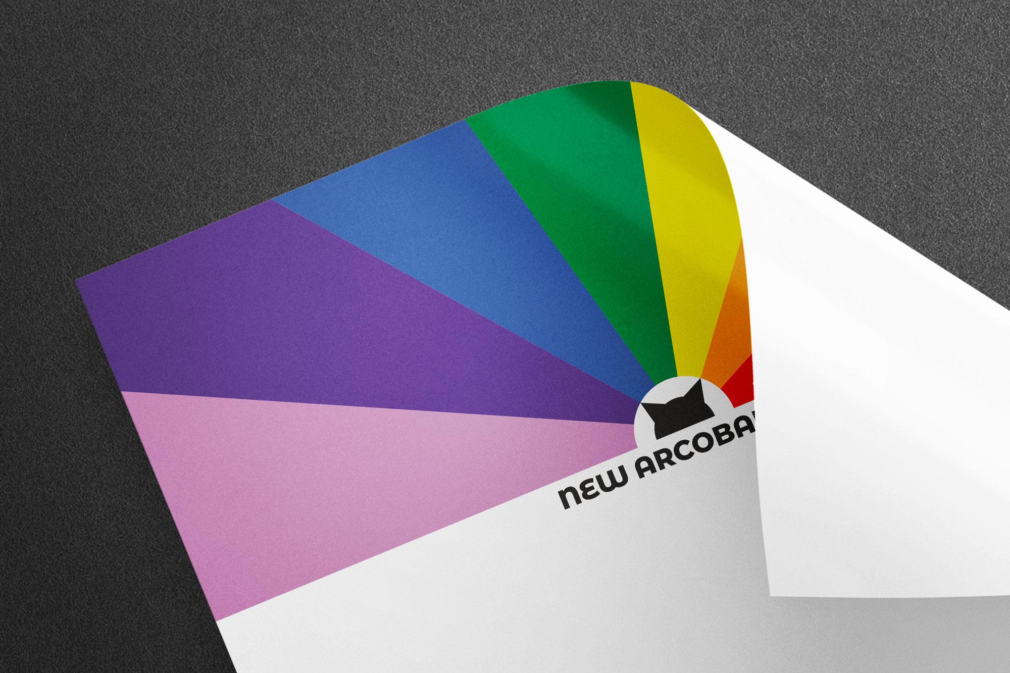 Carta Intestata con il logo e la brand identity de New Arcobaleno