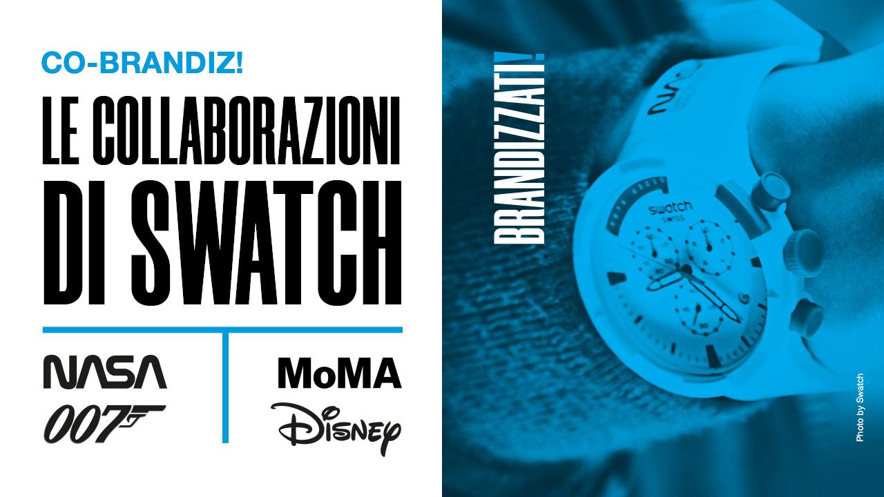 collaborazioni di swatch con altri brand come 007, disney, MOmA e NASA