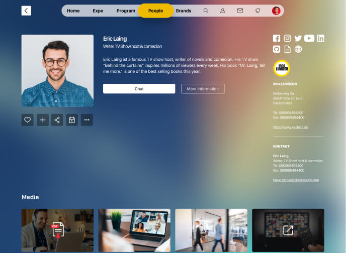 virtual event speaker view