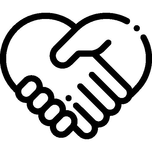 Icono de dos manos que se agarraran