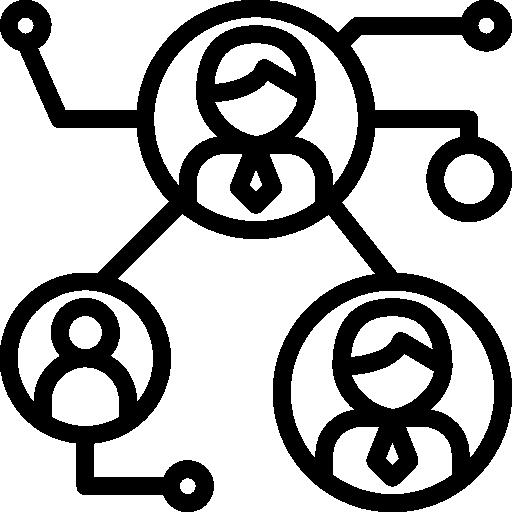 Icono de una red de personas.