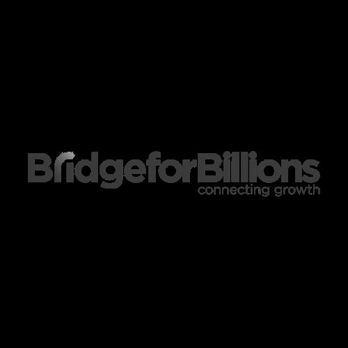 El logo de Bridge For Billions