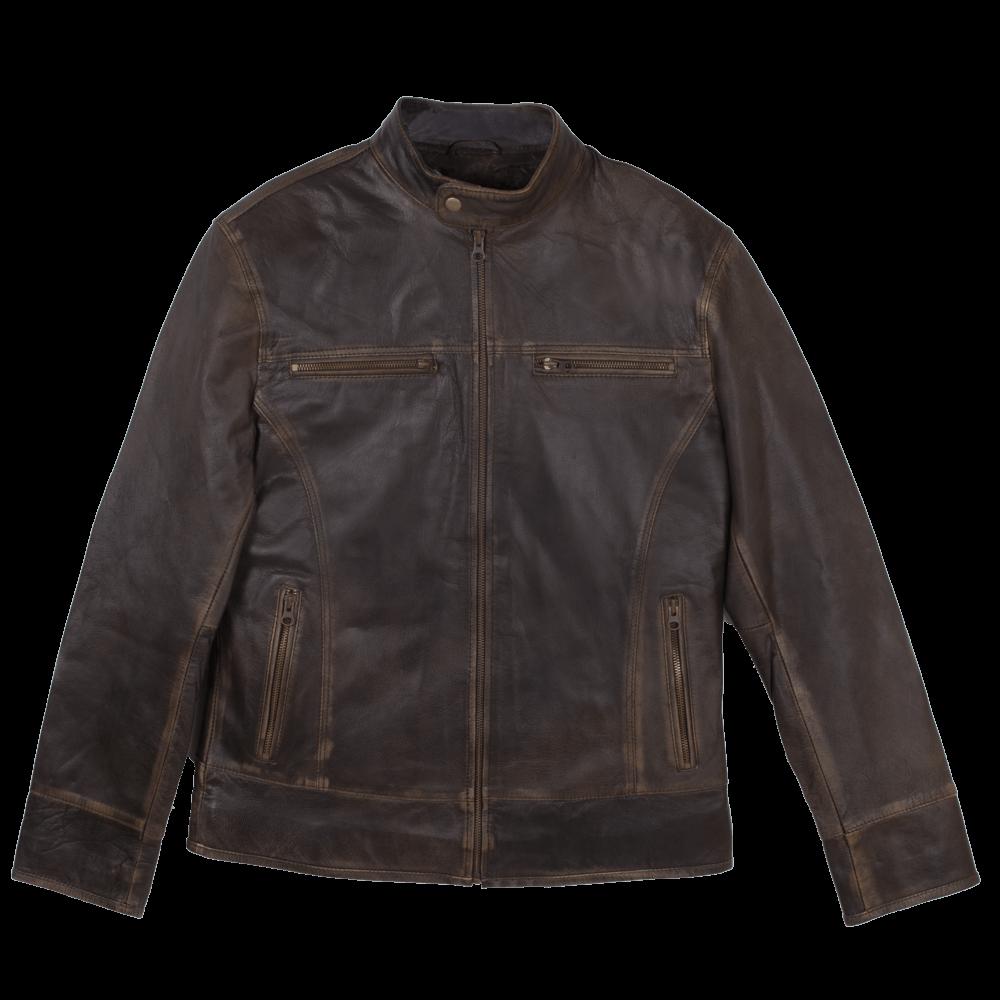 Lightweight Sheepskin Racer Jacket