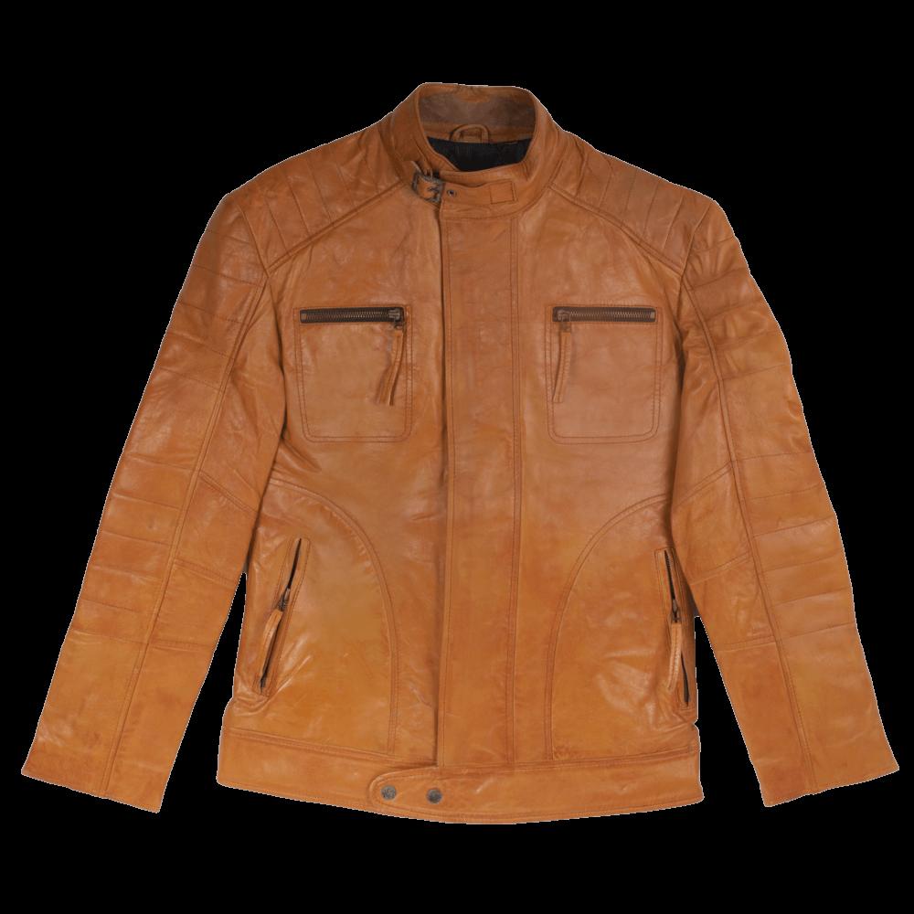Tan Leather Field Jacket