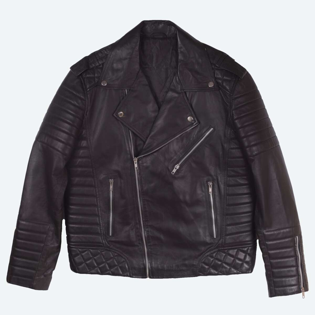 Quilted Sheepskin Biker Jacket