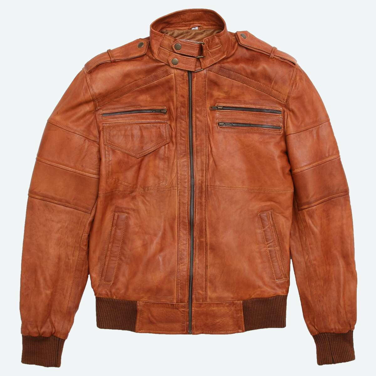 Sheepskin Leather Bomber Jacket
