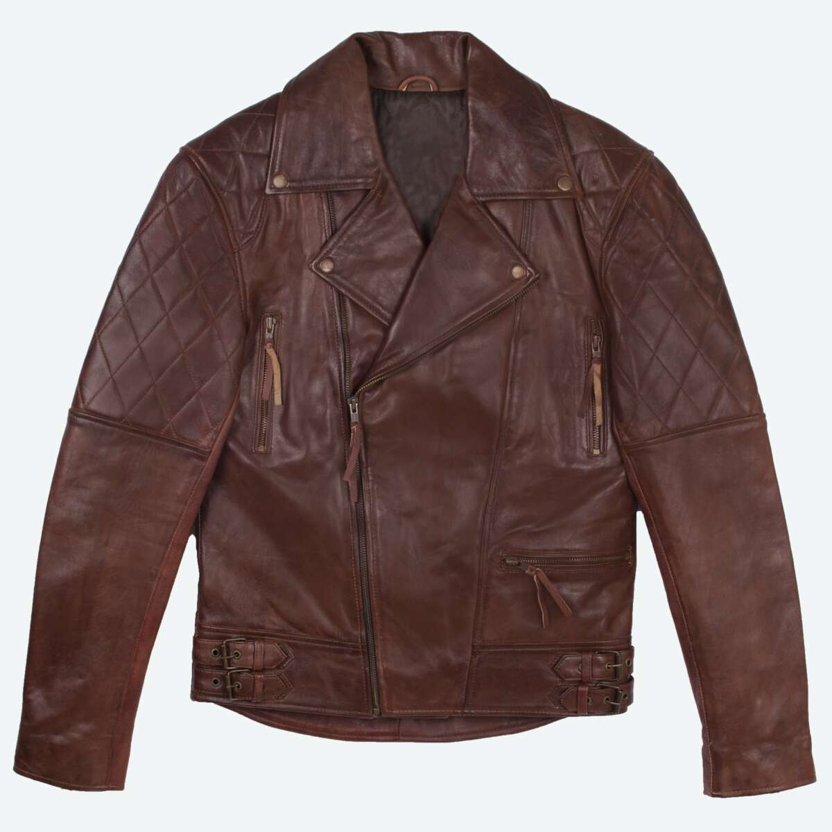 Sheepskin Leather Biker Jacket