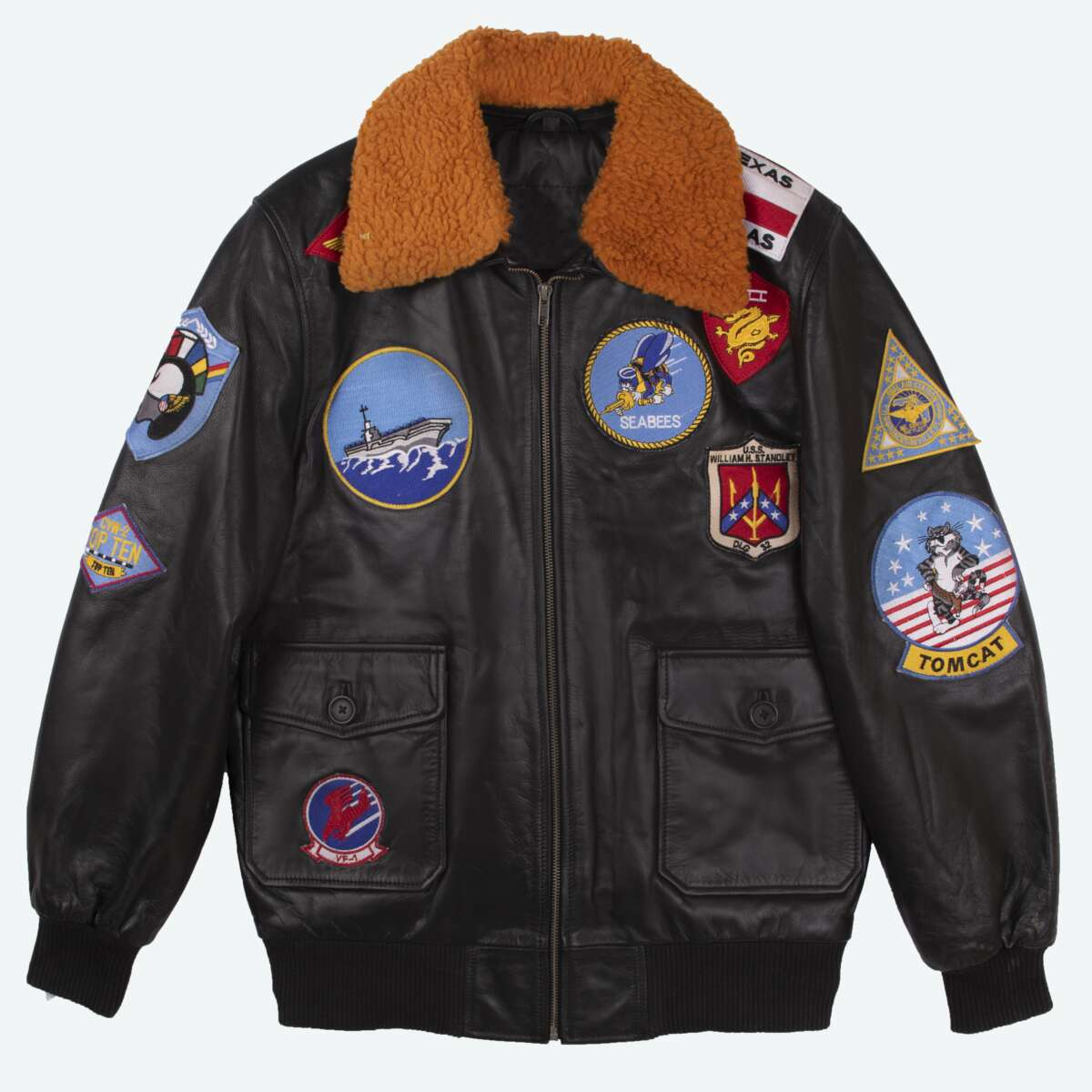 Sheepskin Leather Aviator Jacket
