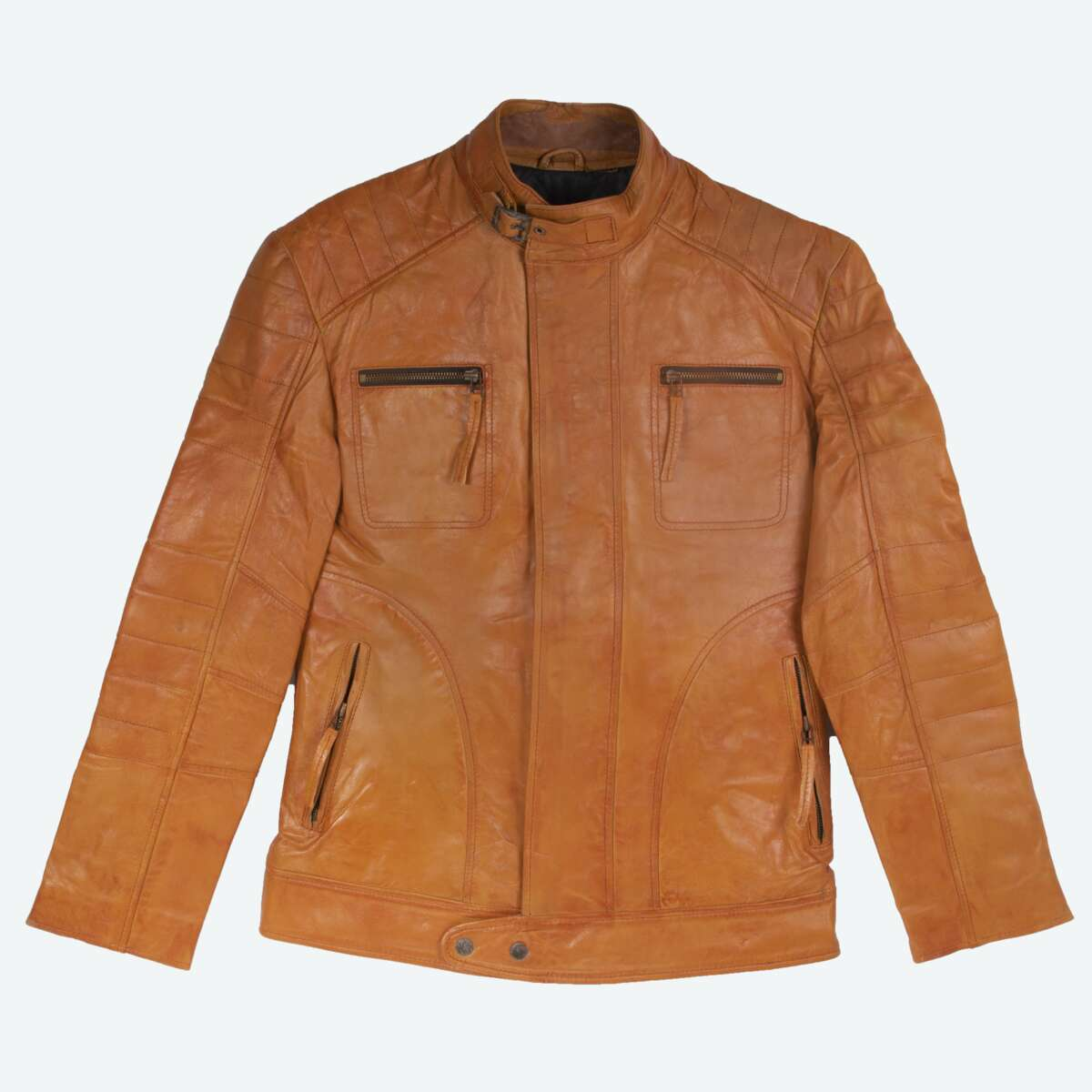 Tan Leather Field Jacket