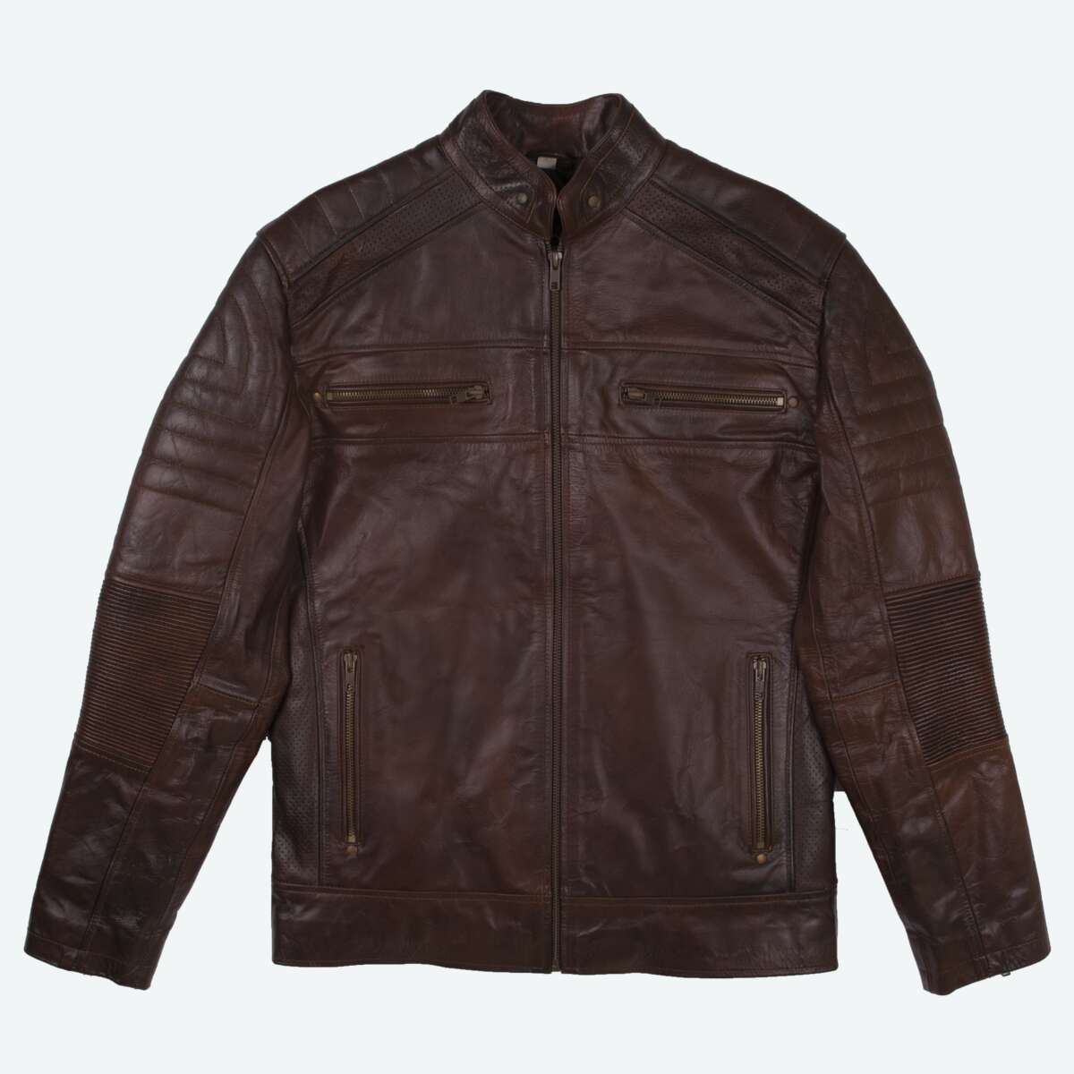 Sheepskin Leather Racer Jacket
