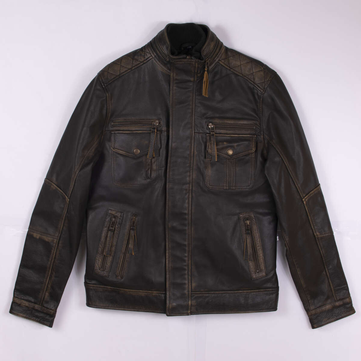 Field Jacket with Double Collar - Black