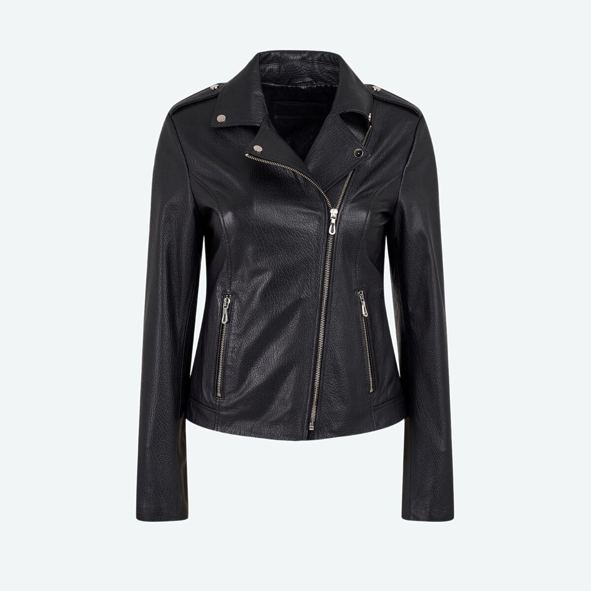 Women's Classic Biker Jacket - Black