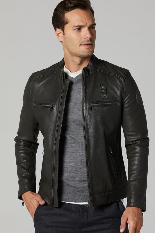 Men's Cruise Leather Jacket - Green