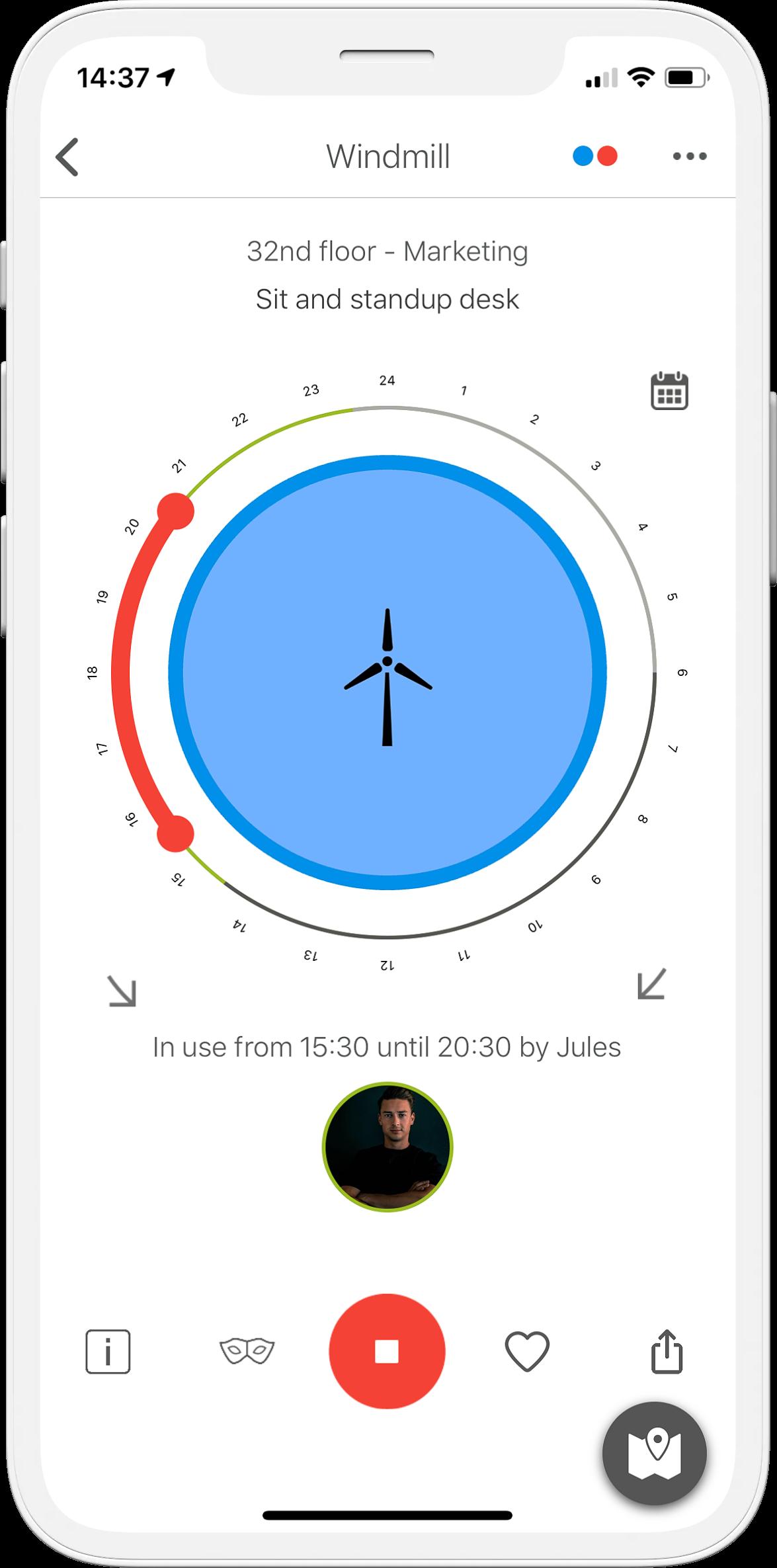 Iotspot smart workspace platform booking app.